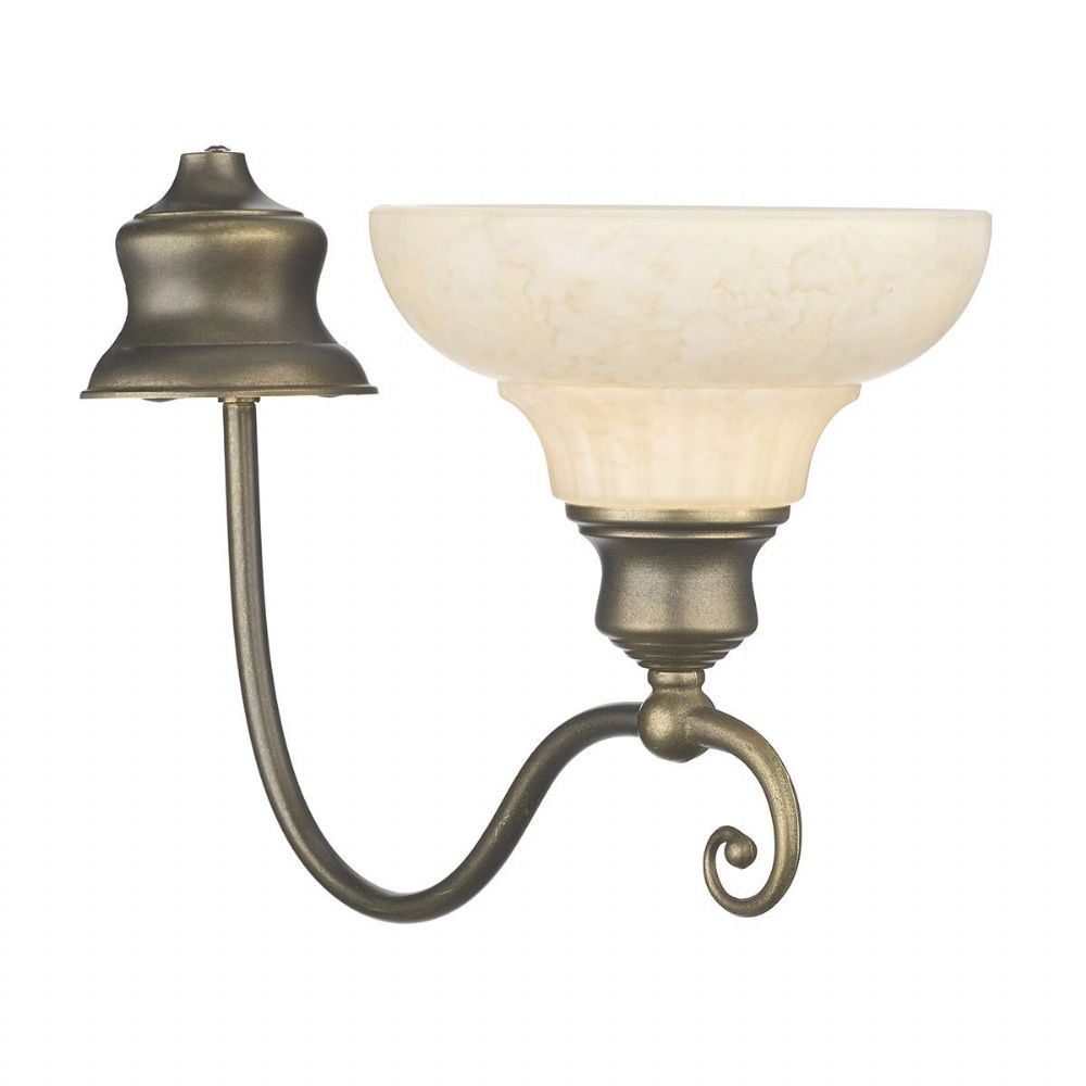 Stratford Single Wall Light In Aged Brass With A Stylish